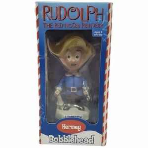 """Toysite Rudolph the Red Nosed Reindeer """"Hermey"""" Bobblehead Island of Misfit Toys"""